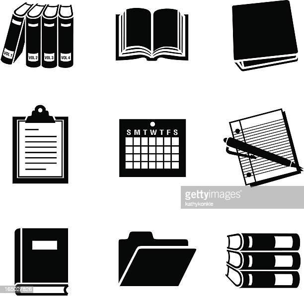 business 11 documents 02 - encyclopaedia stock illustrations, clip art, cartoons, & icons