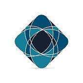 Business Abstract petal, swirl icon