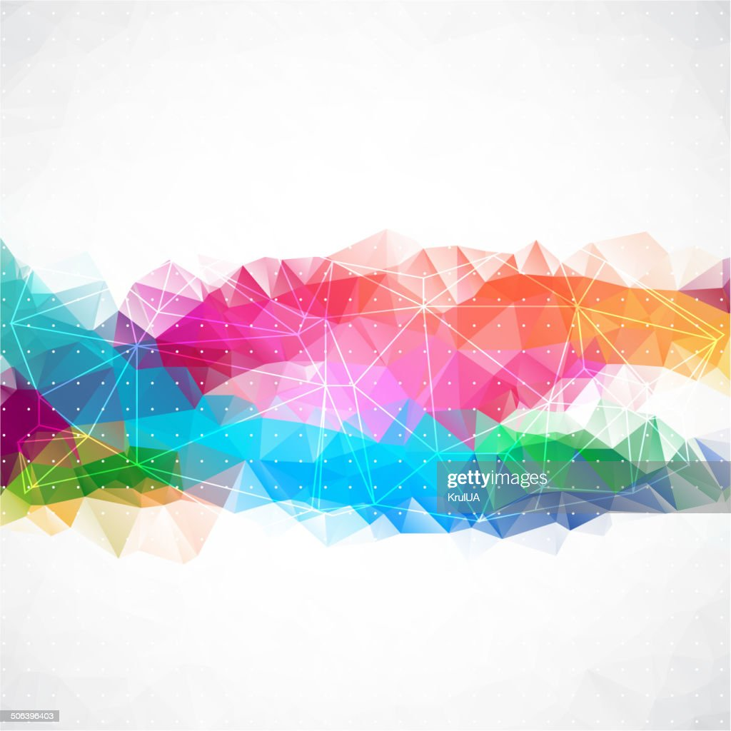Business abstract triangle corporate background.