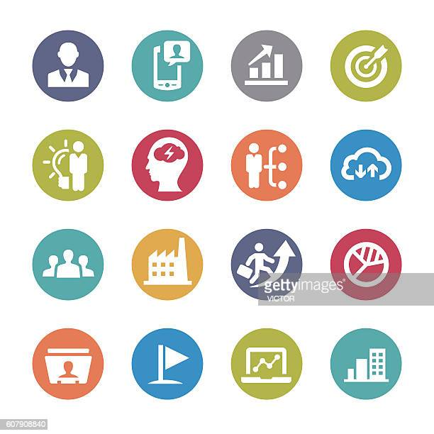business Affairs Icons - Circle Series