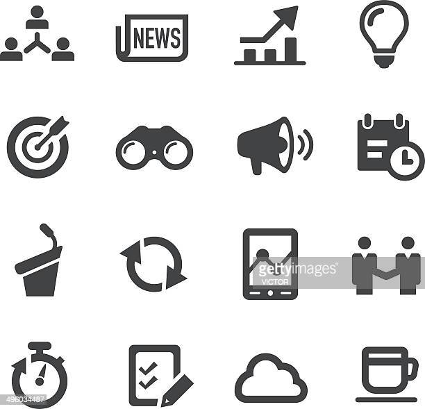 Business Affairs Icons Set  |  Acme Series