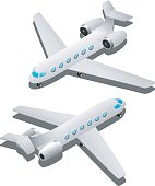 Business aircraft illustration
