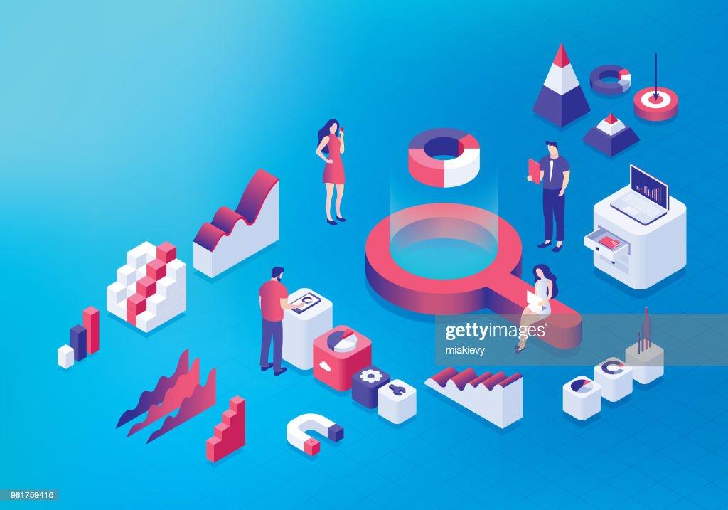 Business analysis concept : Stock Illustration