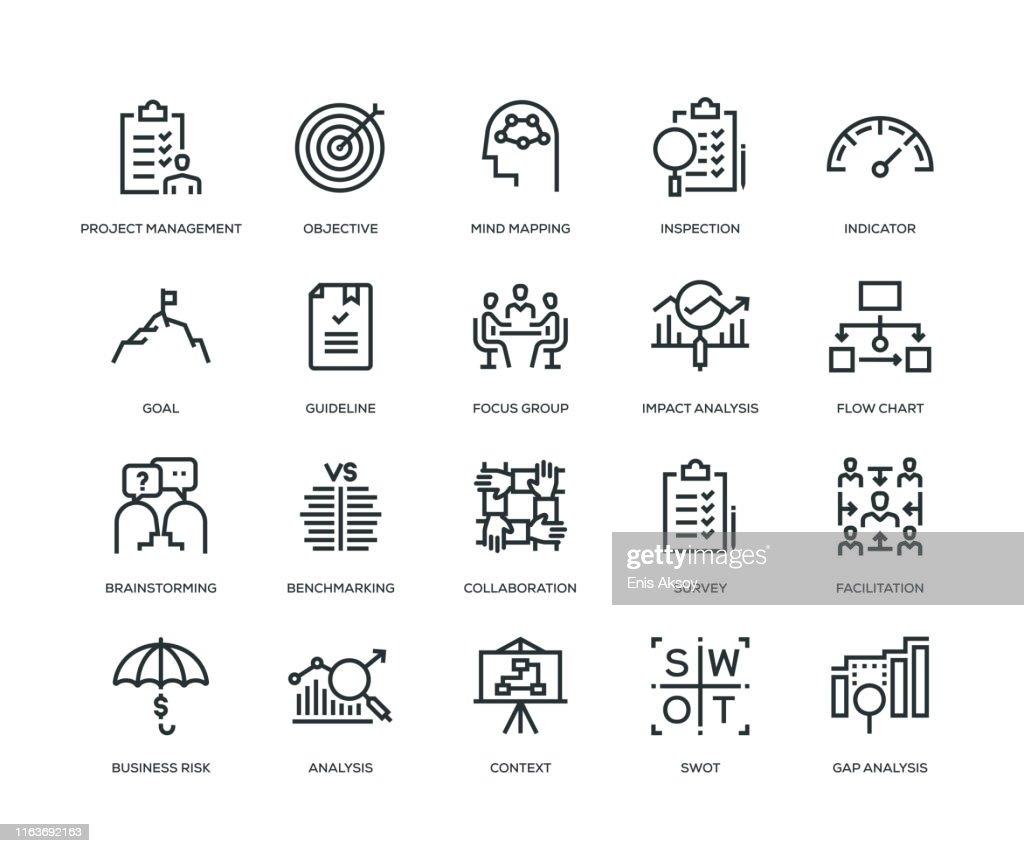 Business Analysis Icon Set : Stock-Illustration