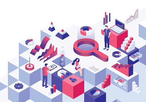 Business analysis isometric concept - gettyimageskorea