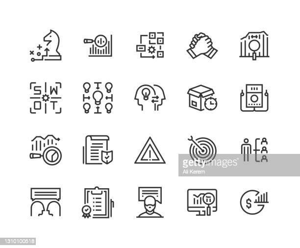 geschäft, analyse, strategie, strategie, collaboration icon design - fokusgruppe stock-grafiken, -clipart, -cartoons und -symbole