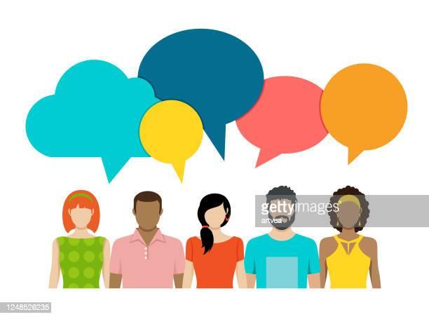 ビジネスとコミュニケーションのコンセプト - ティーンエイジャー点のイラスト素材/クリップアート素材/マンガ素材/アイコン素材