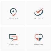 Business and contacts design element