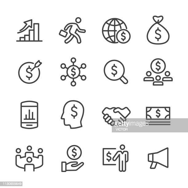 Business and Finance Icon - Line Series