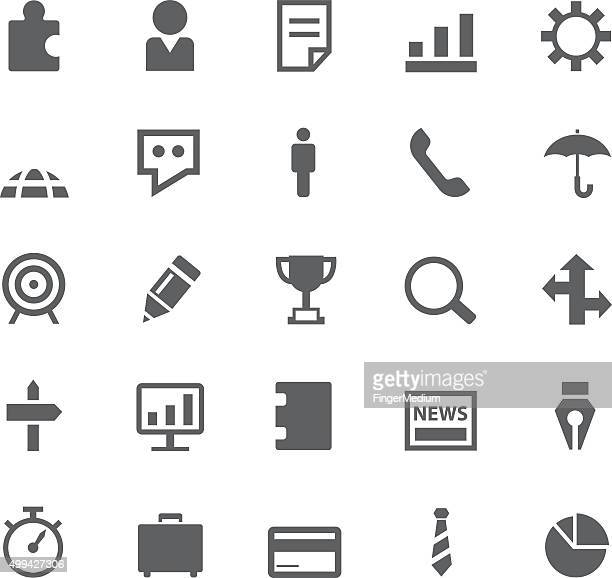 business and finance icon set - video editing stock illustrations, clip art, cartoons, & icons