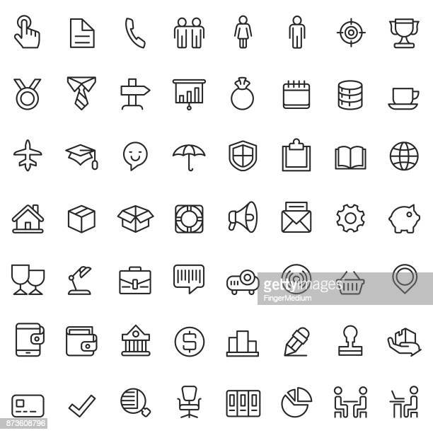 business and finance icon set - retail employee stock illustrations