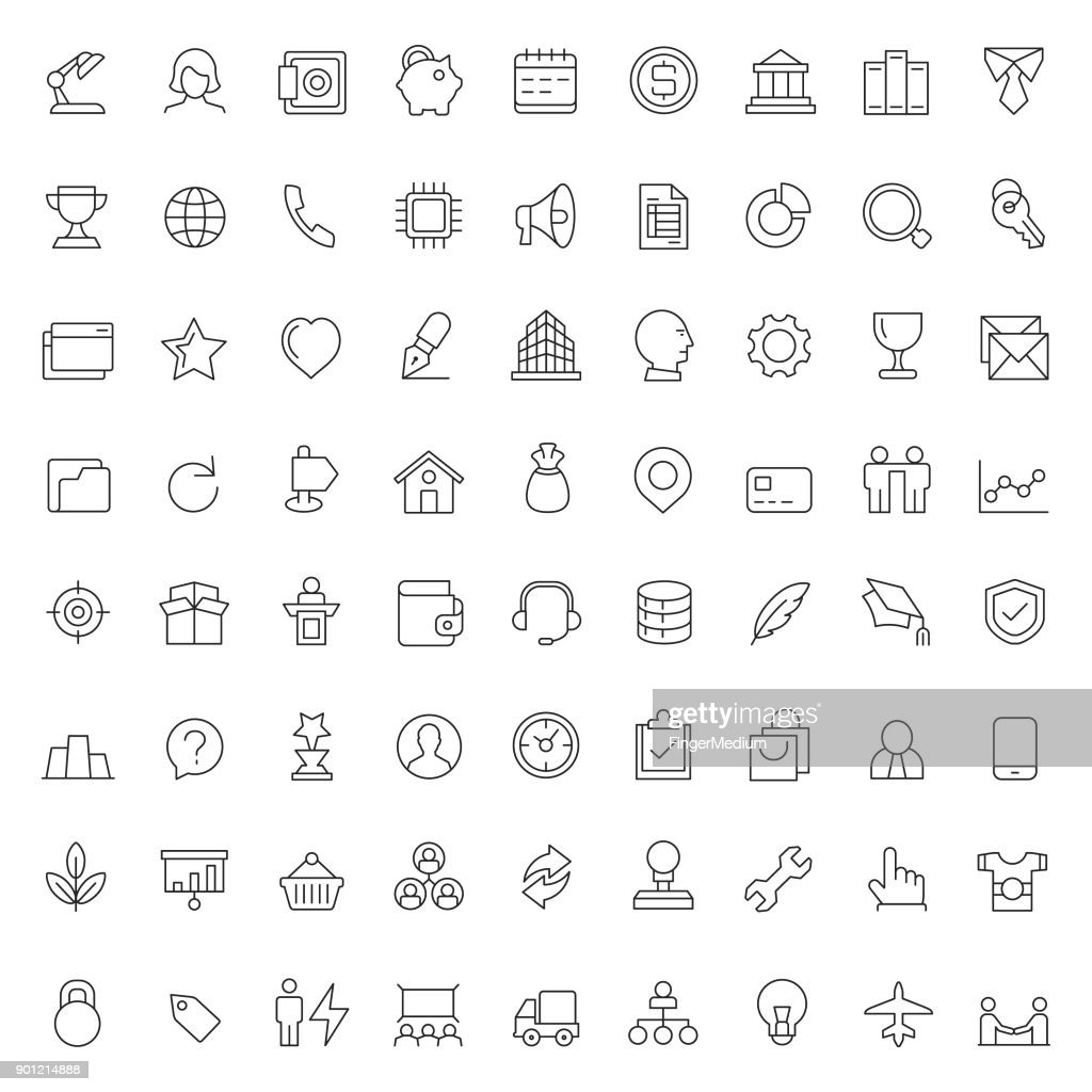Wirtschaft und Finanzen-Icon-set : Stock-Illustration