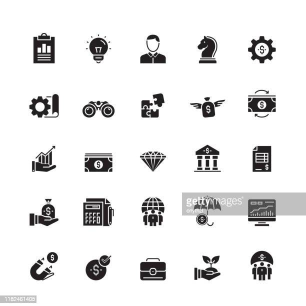 business and finance related vector icons - sponsorship stock illustrations