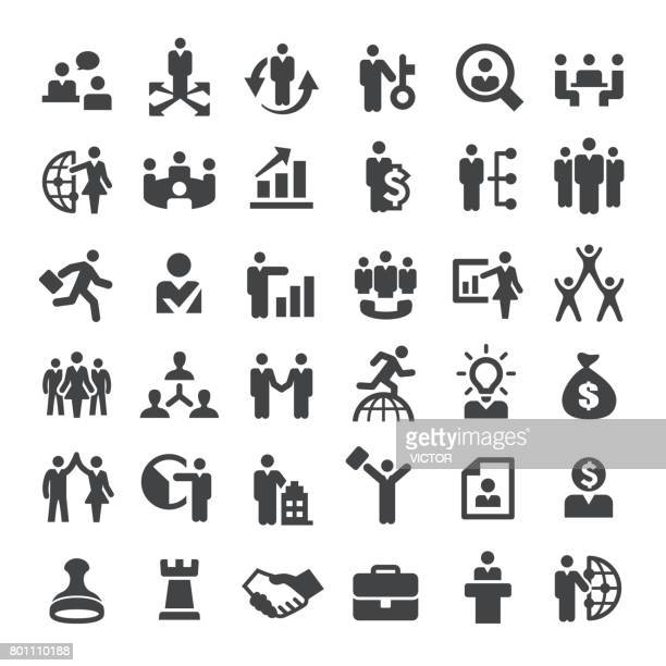 Business and Human Resources Icons - Big Series