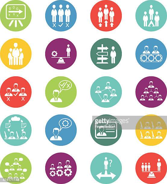 Business and human resources icons vector set