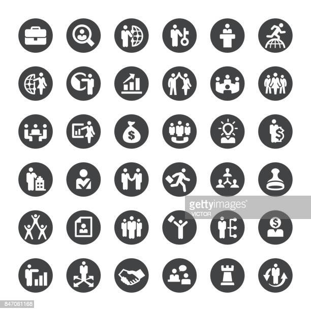 business and human resources vector icons - new hire stock illustrations