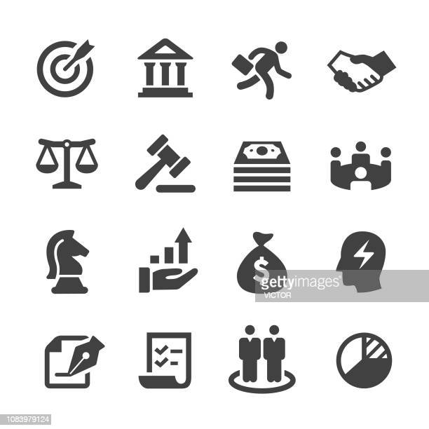 business and investment icons - acme series - money bag stock illustrations