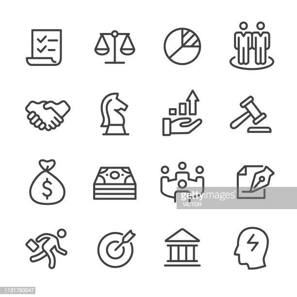 business and investment icons - line series - horse family stock illustrations, clip art, cartoons, & icons