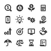 Business and Investment Icons Set - Acme Series