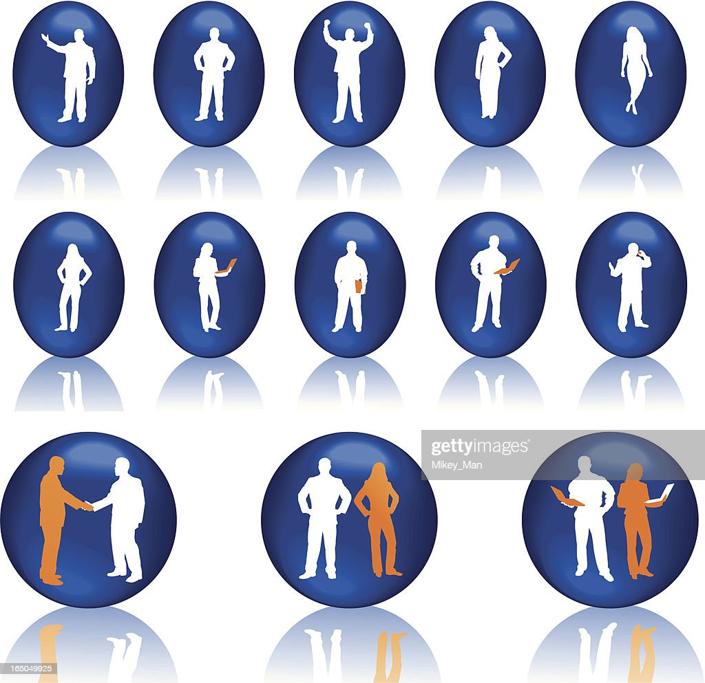 Business and IT people icons