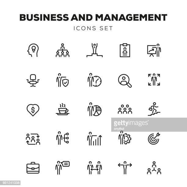 ilustrações, clipart, desenhos animados e ícones de conjunto de ícones básicos de negócios e gestão - portfolio
