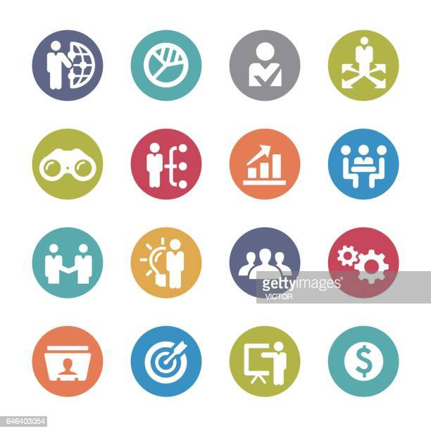 business and management icons - circle series - unemployment stock illustrations