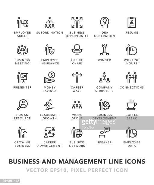 Business and Management Line Icons