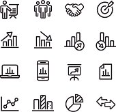 Business and Market Analysis Icons - Line Series