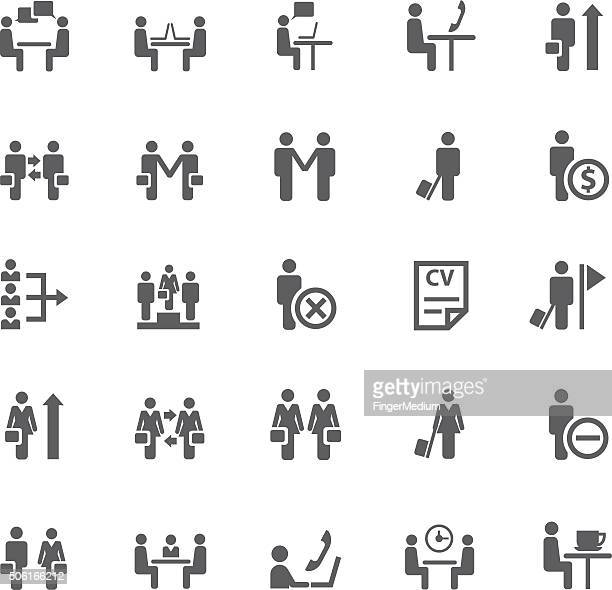 Business- und meeting-icon-set