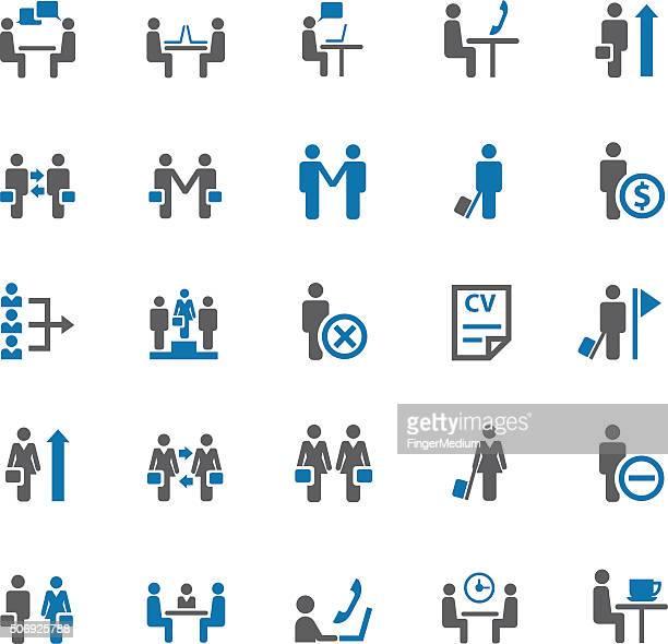Ensemble d'icônes d'affaires et de réunion