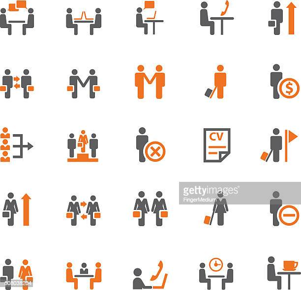 Business and meeting icon set