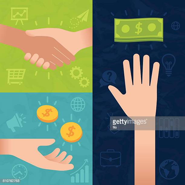 business and money transactions - american one dollar bill stock illustrations, clip art, cartoons, & icons