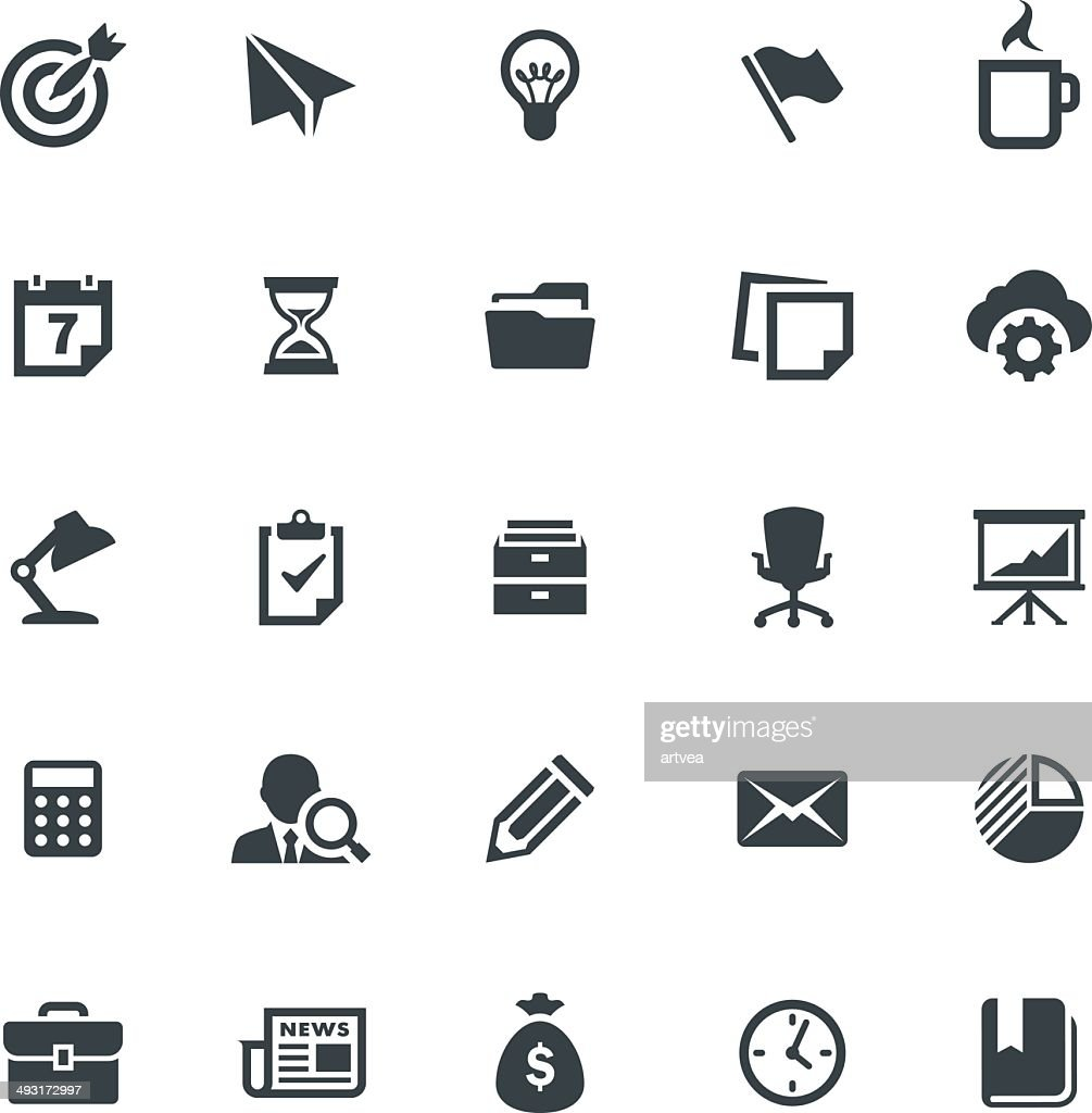 Business and Office Icon Set