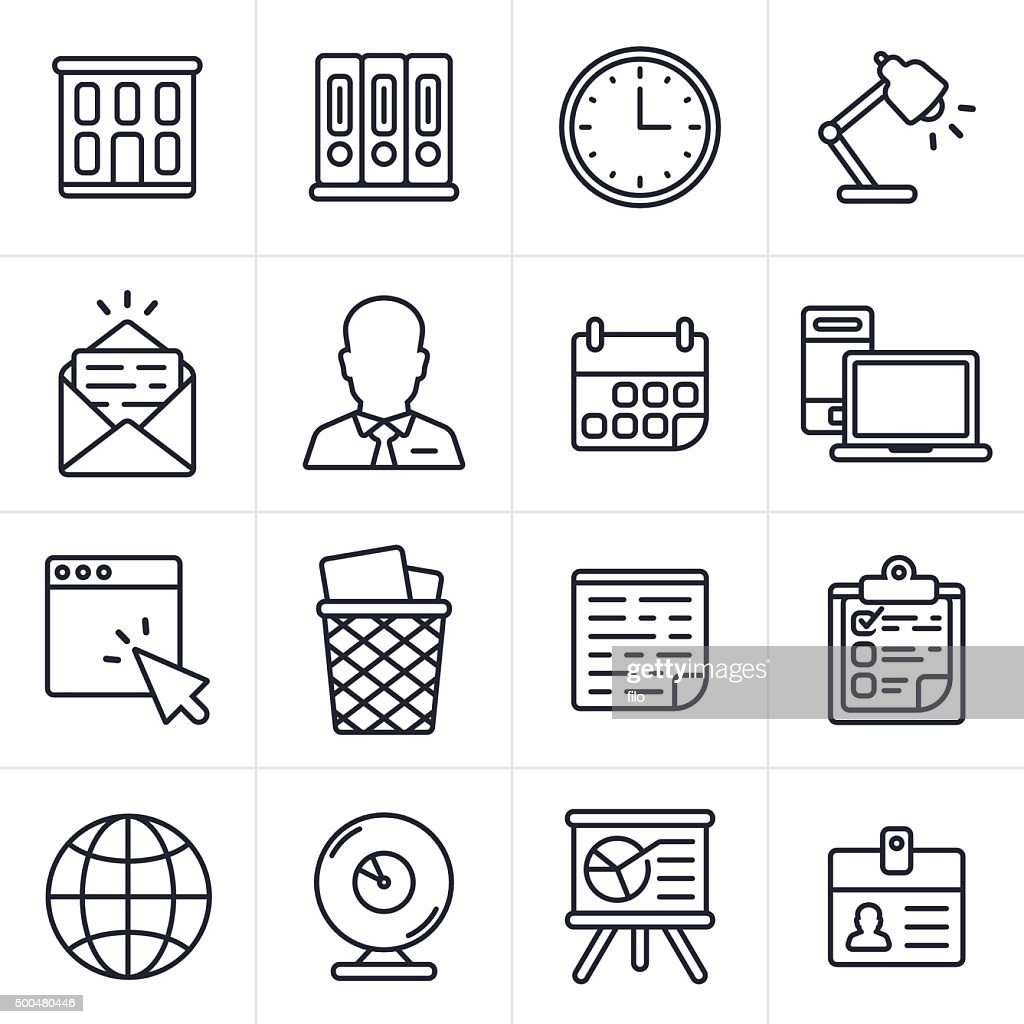 Business and Office Icons and Symbols