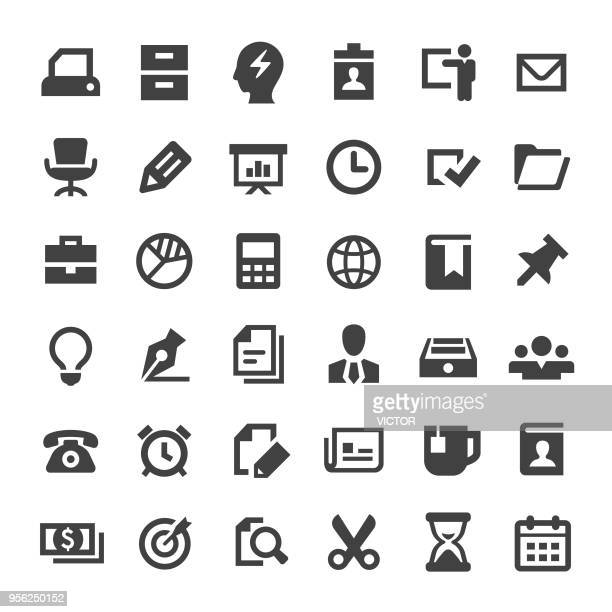 Affaires et les icônes de bureau - grande série