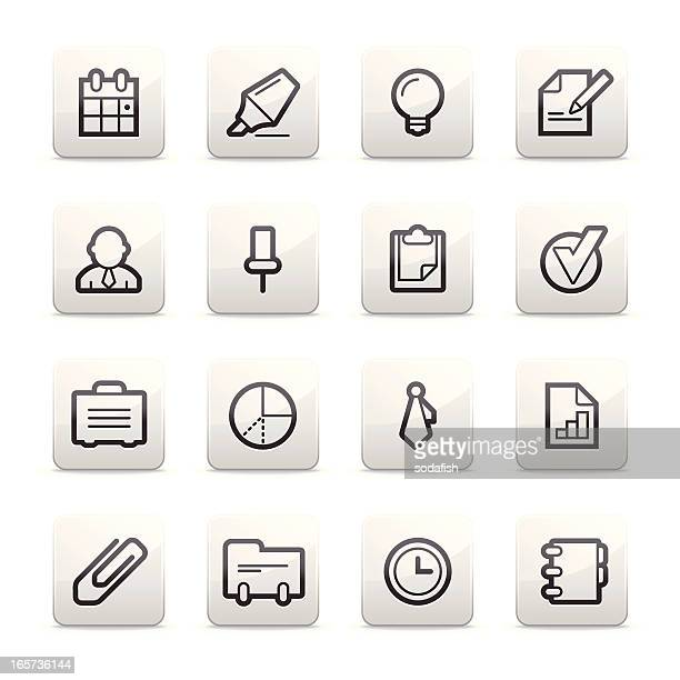 business and office icons | contour b series - rolodex stock illustrations, clip art, cartoons, & icons