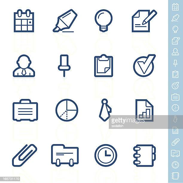 business and office icons | contour series - rolodex stock illustrations, clip art, cartoons, & icons