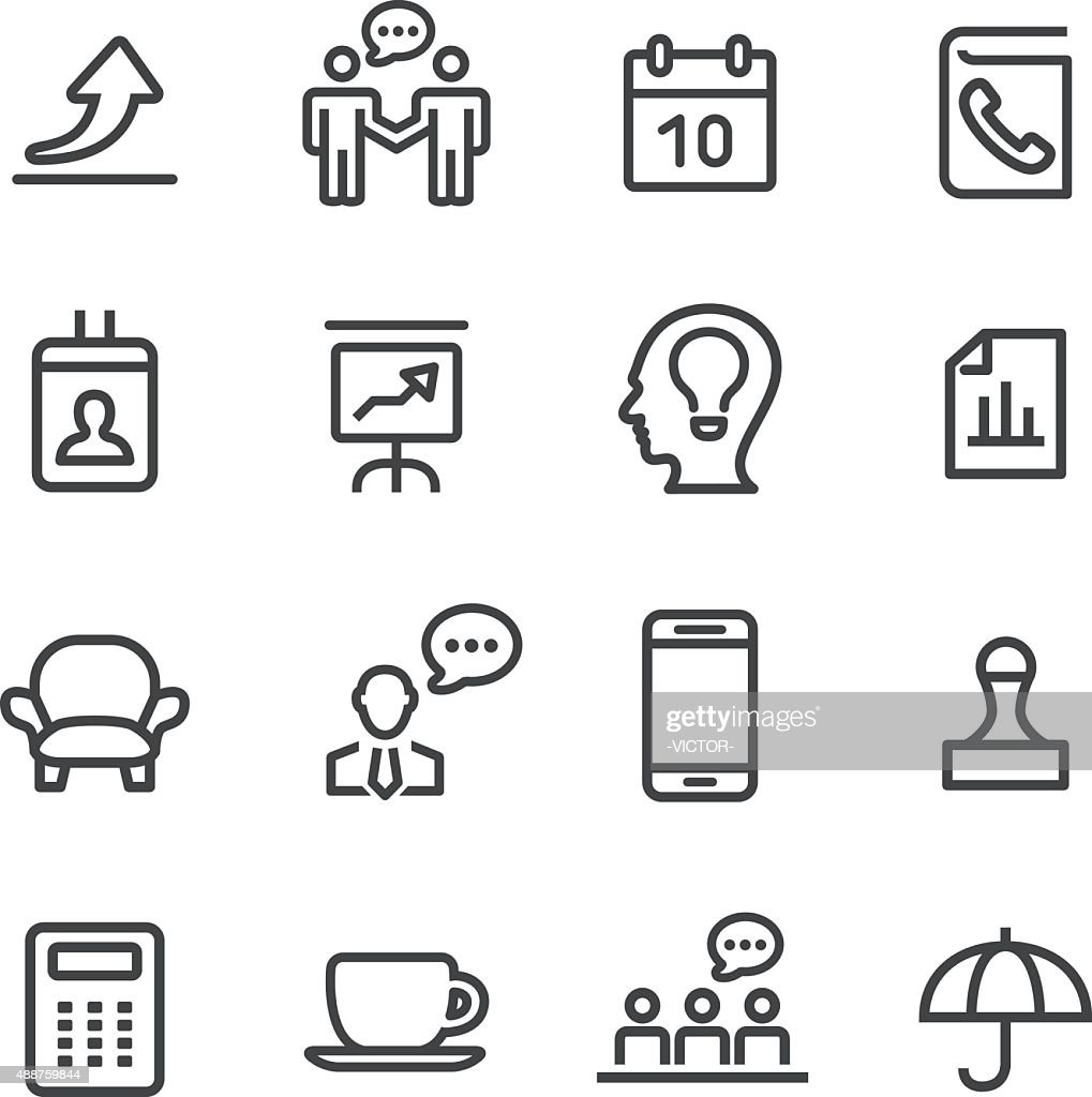 Business and Office Icons - Line Series