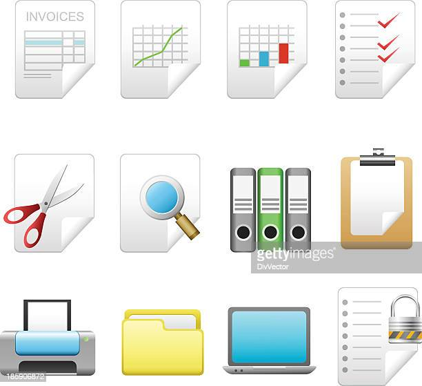 business and office icons - video editing stock illustrations, clip art, cartoons, & icons
