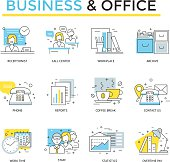 Business and office  icons.
