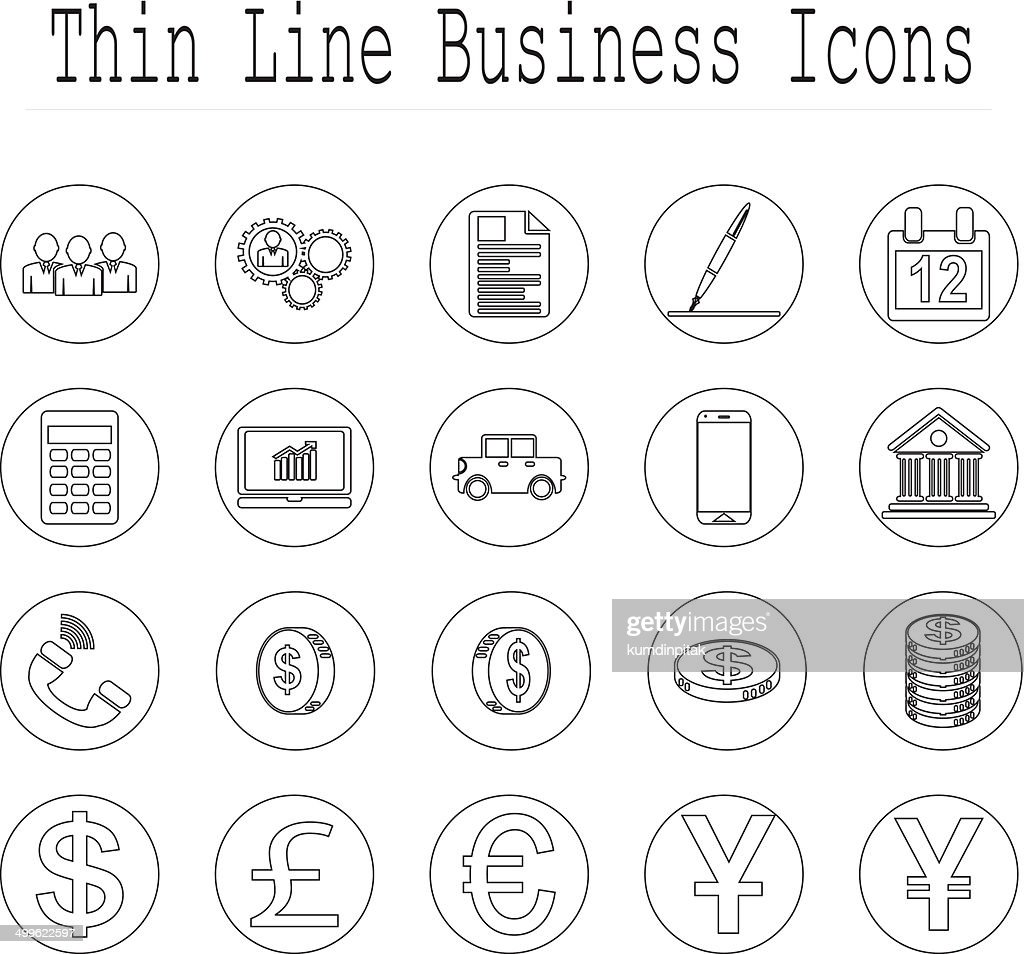 Business and office line icon set. vector  illustrations EPS10