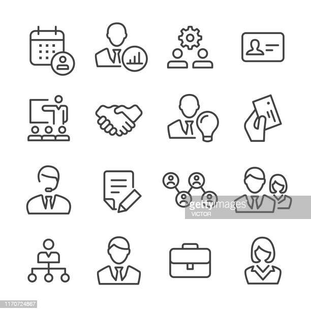 business and people icons - line series - new hire stock illustrations