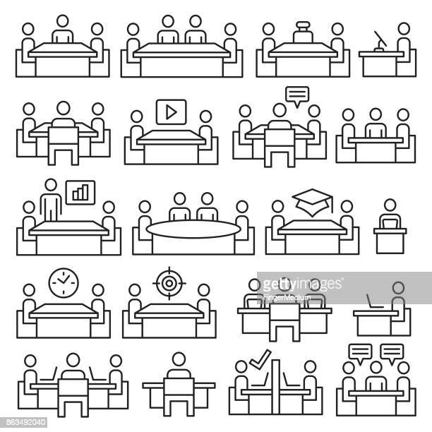 Business and person icon set