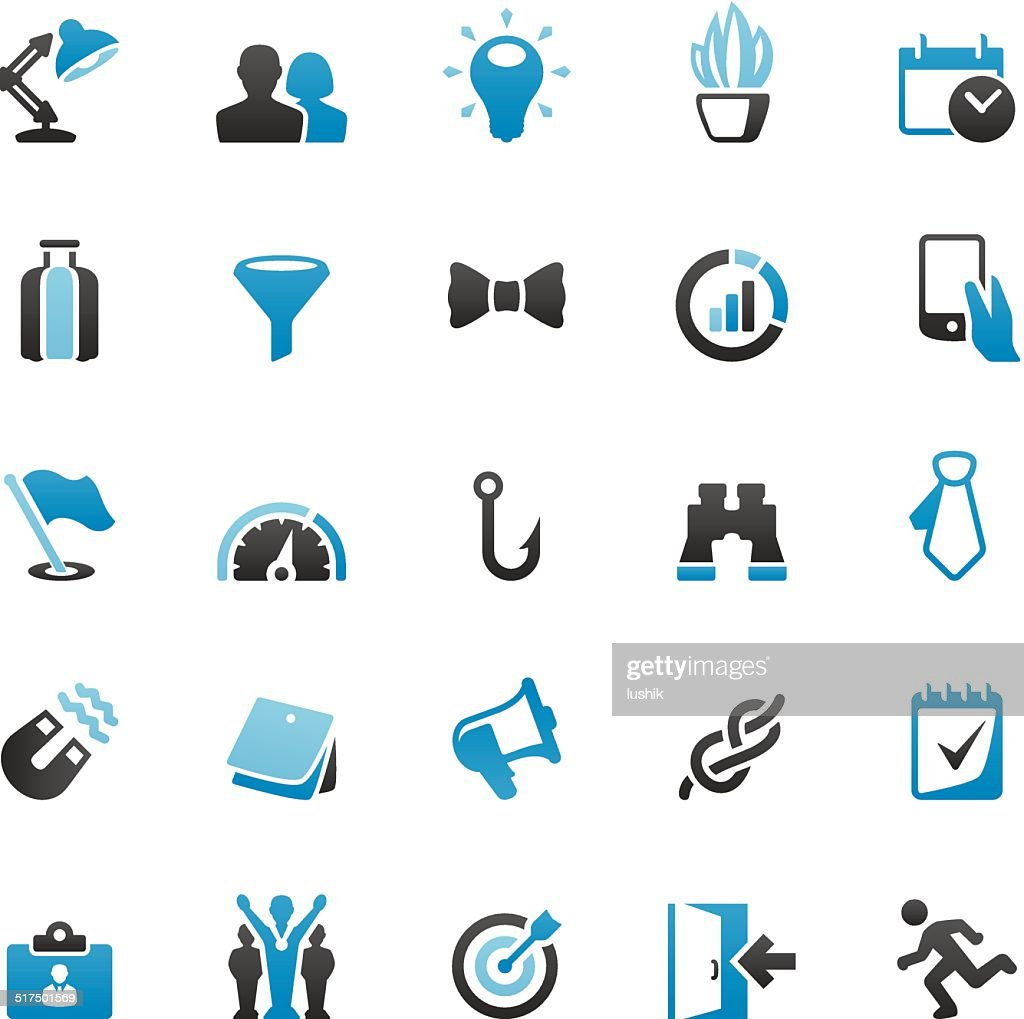 Business and Planning icons set