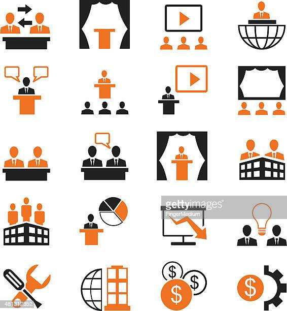 Business and presentation icon set