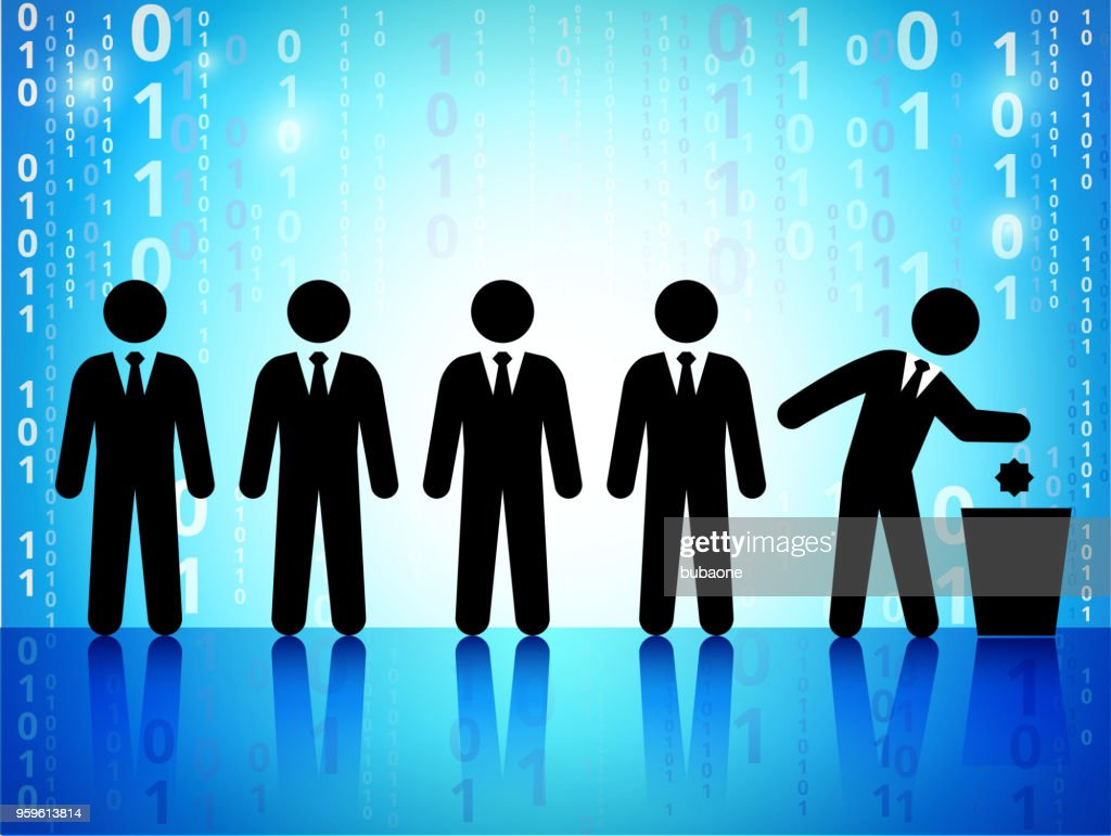 Business and Recycling on Binary Code Blue Background : stock illustration