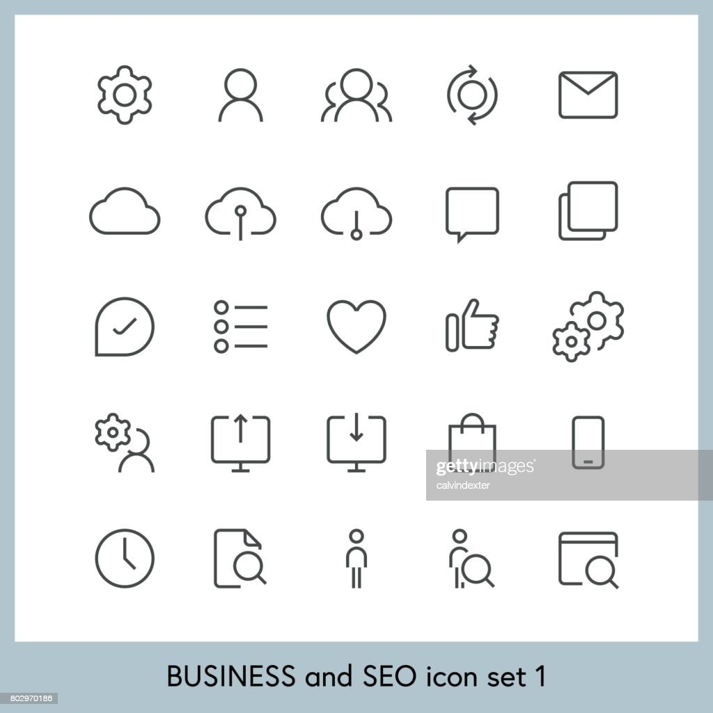 Business and SEO icon set 1