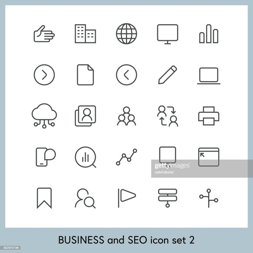 Business and SEO icon set 2