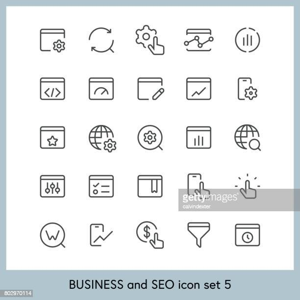 Business and SEO icon set 5