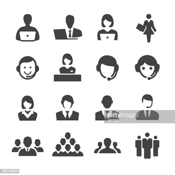 business and service icons - acme series - employee stock illustrations